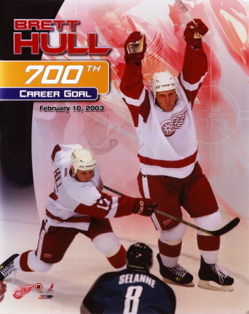 Brett Hull - '03 700th Goal Photo