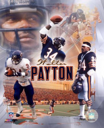 """Walter Payton """"Legends"""" Composite Photo"""