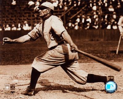 Honus Wagner - Batting, sepia Photo