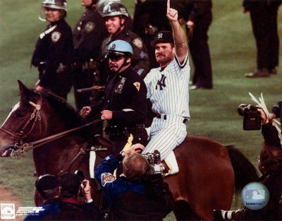 Wade Boggs - World Series Celebration On Horse Photo