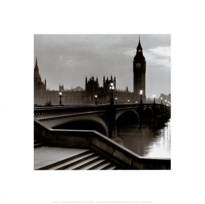 Bridge with Big Ben Poster