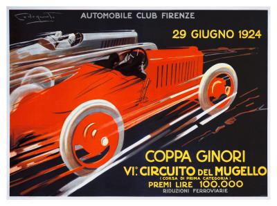 Coppa Ginori, Auto Race, Florence Giclee Print