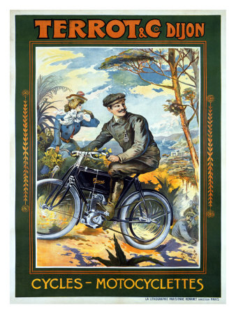Terrot and Cie Motorcycle Giclee Print by Francisco Tamagno