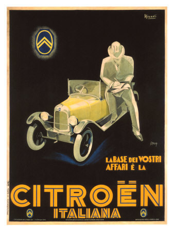 Citroen Giclee Print by Marcello Nizzoli