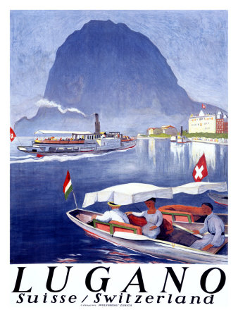 Lugano Giclee Print by Otto Baumberger