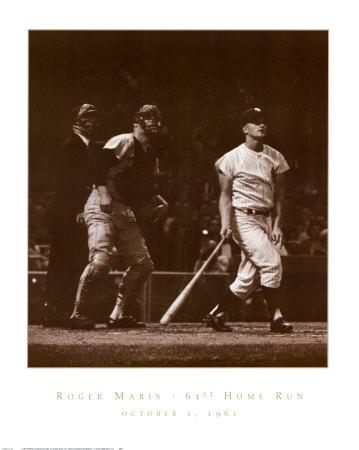 Roger Maris, 61st Home Run Plakater af Herb Scharfman
