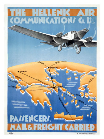 Hellenic Air Giclee Print by  Lyda