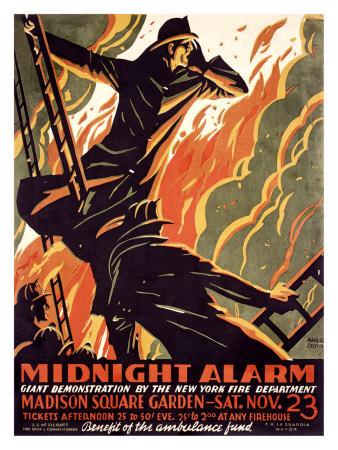 FDNY Midnight Alarm Giclee Print by Manuel Delosas