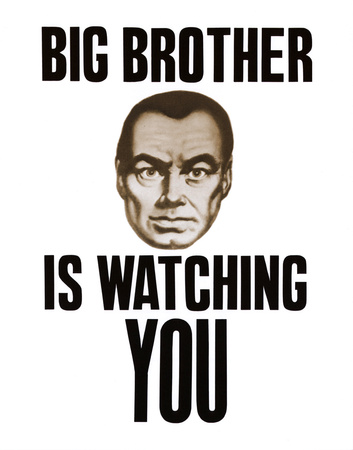 Big Brother is Watching You Posterkort