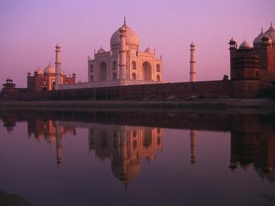 Taj Mahal and Jamid Masjid Photographic Print by Mick Roessler