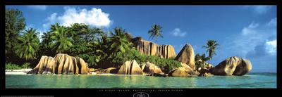 La Digue Island, Seychelles, Indian Ocean Prints by K.H. Hanel
