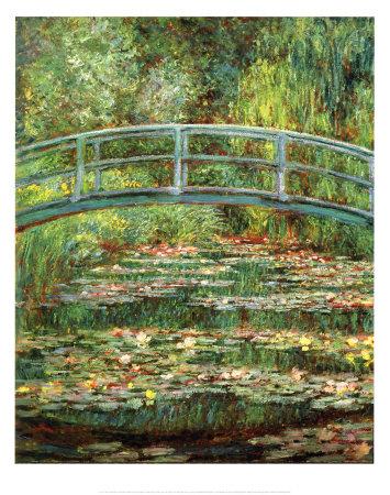 ジヴェルニーの日本の橋 高品質プリント : クロード・モネ