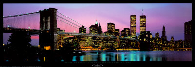 Brooklyn Bridge og New York City Skyline Kunst af Richard Sisk