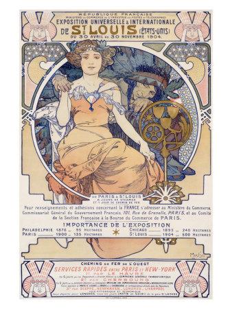 World's Fair, St. Louis, Missouri, 1904 Giclee Print by Alphonse Mucha