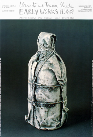 Wrapped Bottle, 1958 Prints by  Christo