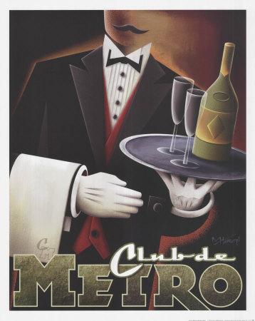 Club de Metro Print by Michael L. Kungl