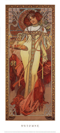 Automne, 1900 Prints by Alphonse Mucha