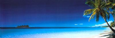 Playa, por la mañana Póster