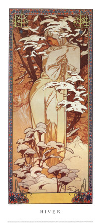 Hiver, 1900 Poster by Alphonse Mucha