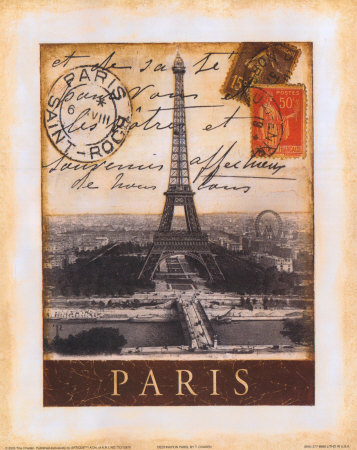 Destination Paris Art Print