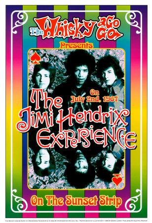 The Jimi Hendrix Experience - At the Whiskey A-Go-Go Affiches van Dennis Loren