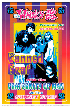 Canned Heat and Fraternity of Man at the Whiskey A-Go-Go Posters by Dennis Loren