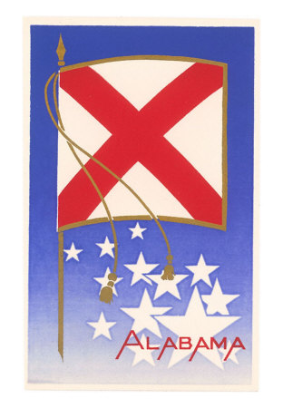 the alabama flag. Alabama State Flag Art Print
