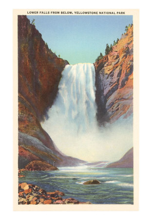 Yellowstone Park Images. Lower Falls, Yellowstone Park,