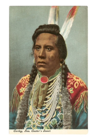 Curley, Crow Indian, General Custer's Scout Print at AllPosters.