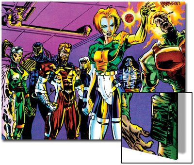 The Official Handbook Of The Marvel Universe Teams 2005 Group: Argento Posters by Paco Diaz