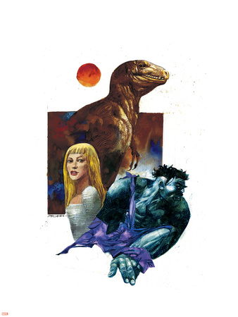 Marvel 1602: New World No.1 Cover: Hulk, Dare and Virginia Plastic Sign by Greg Tocchini
