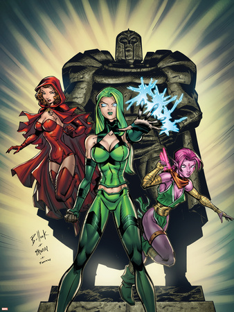Exiles No.2 Cover: Polaris, Scarlet Witch and Blink Plastic Sign by Dave Bullock
