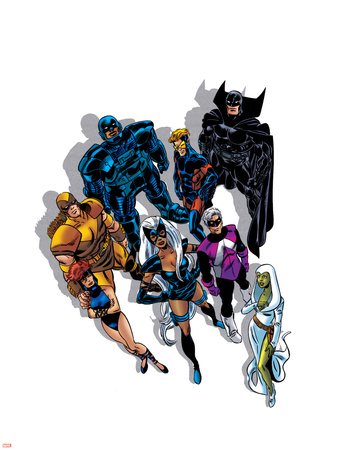 The Official Handbook Of The Marvel Universe Teams 2005 Group: Black Fox Wall Decal by John Byrne