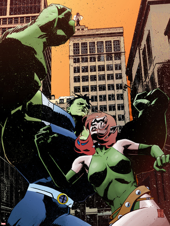Exiles No.97 Cover: Blink and Hulk Wall Decal by Tomm Coker
