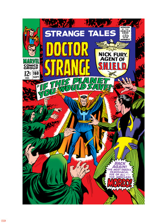 Strange Tales No.160 Cover: Dr. Strange and Baron Mordo Wall Decal by Marie Severin