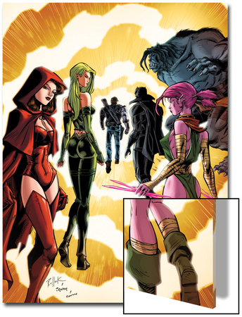 Exiles No.3 Cover: Scarlet Witch, Polaris and Blink Prints by Dave Bullock