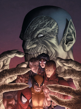 Secret Invasion Directors Cut No.1 Cover: Spider-Man Plastic Sign by Steve MCNiven