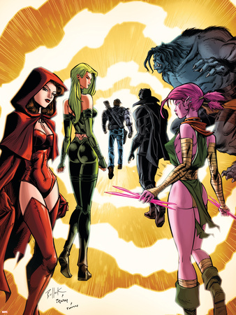 Exiles No.3 Cover: Scarlet Witch, Polaris and Blink Wall Decal by Dave Bullock