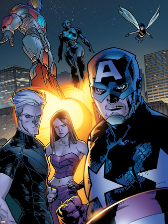 Ultimate X-Men No.63 Group: Captain America Wall Decal by Stuart Immonen
