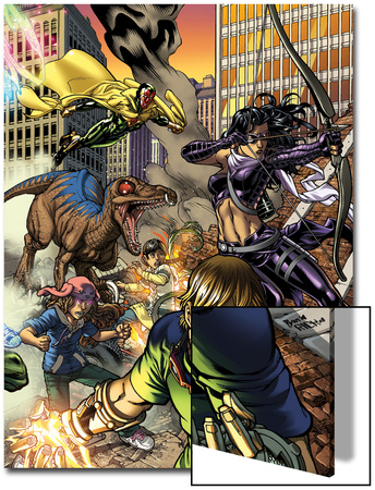 Secret Invasion: Runaways/Young Avengers No.3 Cover: Vision, Hawkeye, Stein and Chase Posters by Michael Ryan