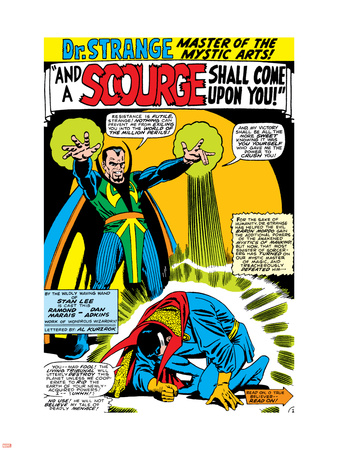 Strange Tales No.161 Cover: Dr. Strange and Baron Mordo Wall Decal by Dan Adkins