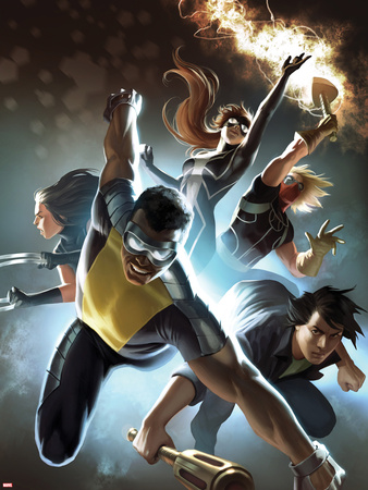 Fear Itself: The Home Front No.6 Cover: Power Man, Amadeus Cho, X-23, Spider-Girl, & Thunderstrike Wall Decal by Marko Djurdjevic