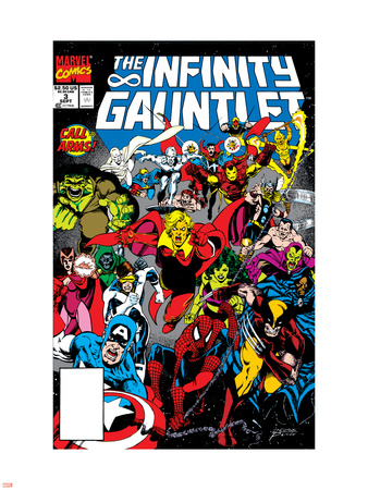 Infinity Gauntlet No.3 Cover: Adam Warlock Plastic Sign by George Perez
