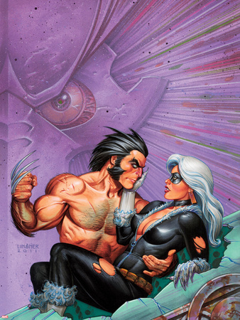 Wolverine & Black Cat: Claws 2 No.3 Cover: Wolverine Lifting Black Cat Wall Decal by Joseph Linsner