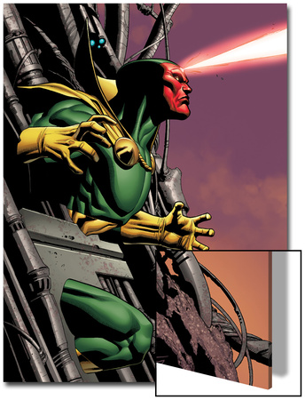 Marvel Adventures Super Heroes No.8 Cover: Vision Running Prints by Clayton Henry