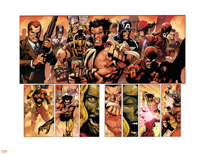 Secret Invasion No.8 Group: Wolverine Wall Decal by Leinil Francis Yu