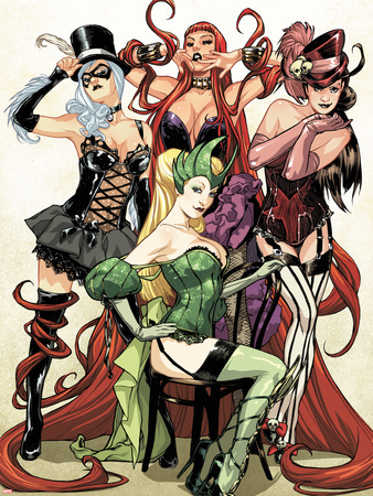 Women of Marvel No.1 Cover: Enchantress, Black Cat, Medusa, and Satana Posing Plastic Sign by Sara Pichelli