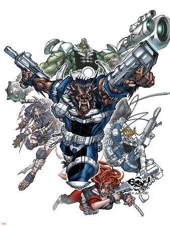 Nick Furys Howling Commandos No.1 Cover: Warwolf Wall Decal by Eduardo Francisco