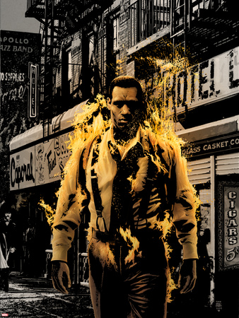 Luke Cage Noir No.3 Cover: Cage and Luke Wall Decal by Tim Bradstreet