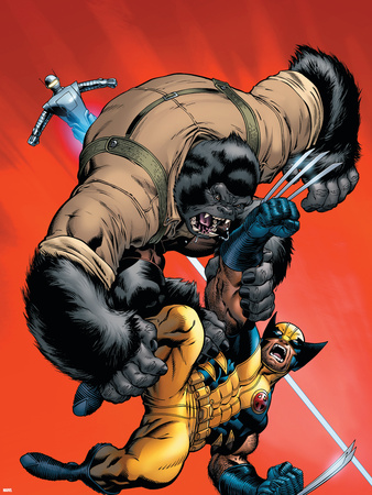 X-Men vs. Agents of Atlas No.1 Cover: Wolverine and Gorilla-Man Wall Decal by Ed McGuinness